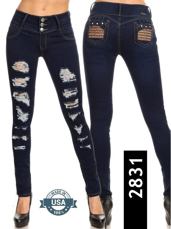 Jeans Levantacola Silver Diva - Ref. 108 -2831