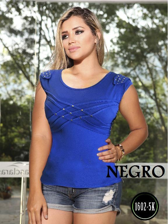 Blusa Moda Colombiana Kpriccio  - Ref. 233 -1602 2 Negro