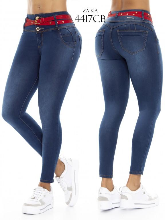 Jeans Levantacola Colombiano Zaika - Ref. 270 -4417 CB