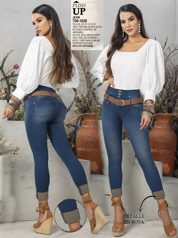 Jeans Levantacola Colombiano - Ref. 287 -1026