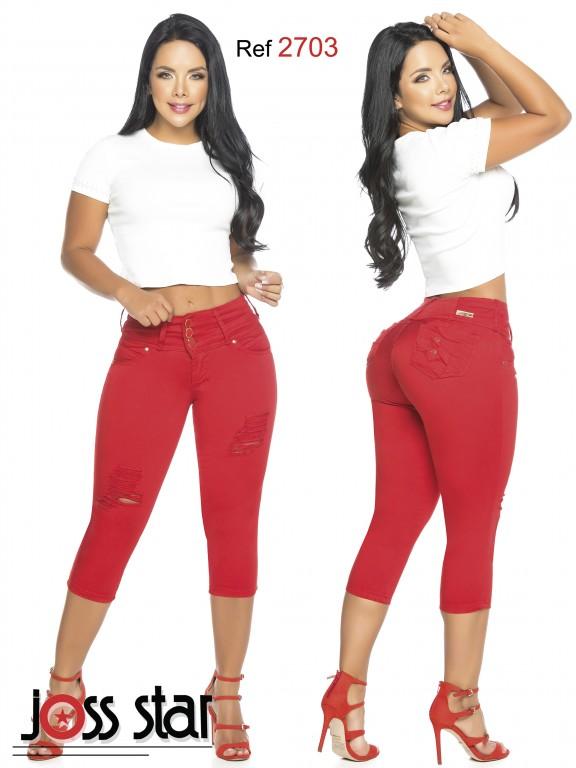 Colombian Butt lifting Capri - Ref. 109 -2703 Rojo