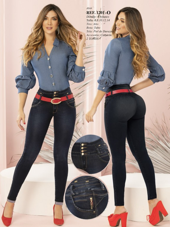 Colombian Butt lifting Jean - Ref. 280 -1201 OSCURO