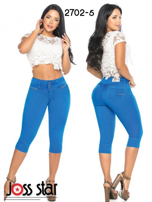 Colombian Butt lifting Capri - Ref. 109 -2702 Azul