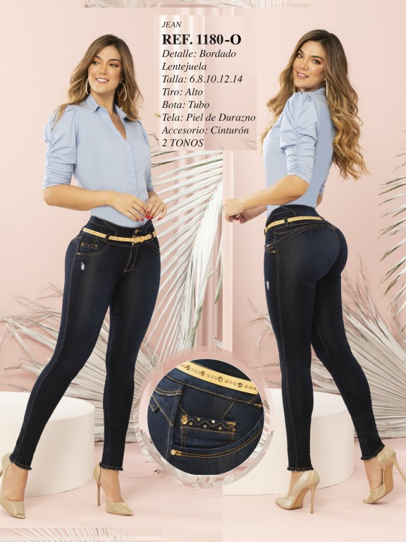 Colombian Butt lifting Jean - Ref. 280 -1180 OSCURO