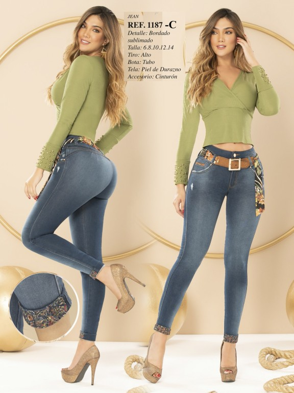 Colombian Butt lifting Jean - Ref. 280 -1187 CLARO