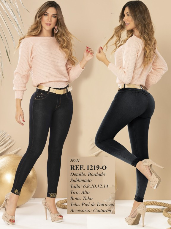 Jeans Levantacola Colombiano - Ref. 280 -1219 OSCURO