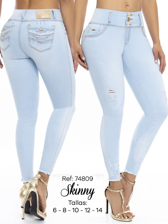 Jeans Levantacola Colombiano - Ref. 248 -74809 D