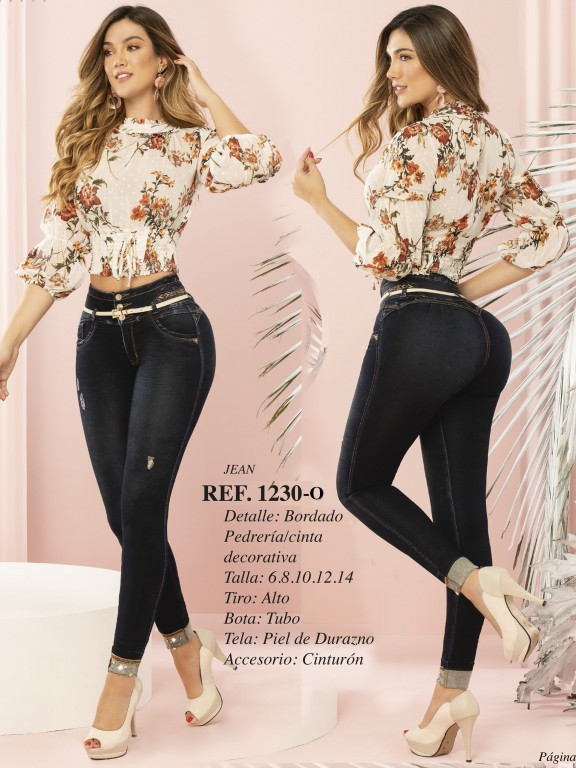 Jeans Levantacola Colombiano - Ref. 280 -1230 OSCURO