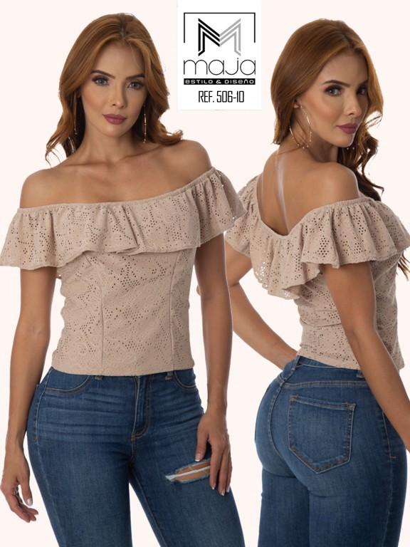 Colombian Fashion Blouse - Ref. 301 -506 KAKI