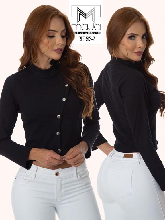 Colombian Fashion Blouse - Ref. 301 -513 NEGRO