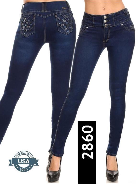 Jeans Levantacola Silver Diva  - Ref. 108 -2860