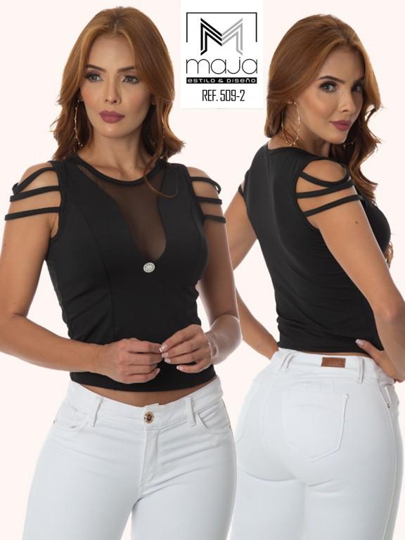 Colombian Fashion Blouse - Ref. 301 -509 NEGRO