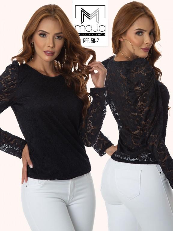 Colombian Fashion Blouse - Ref. 301 -511 Negro