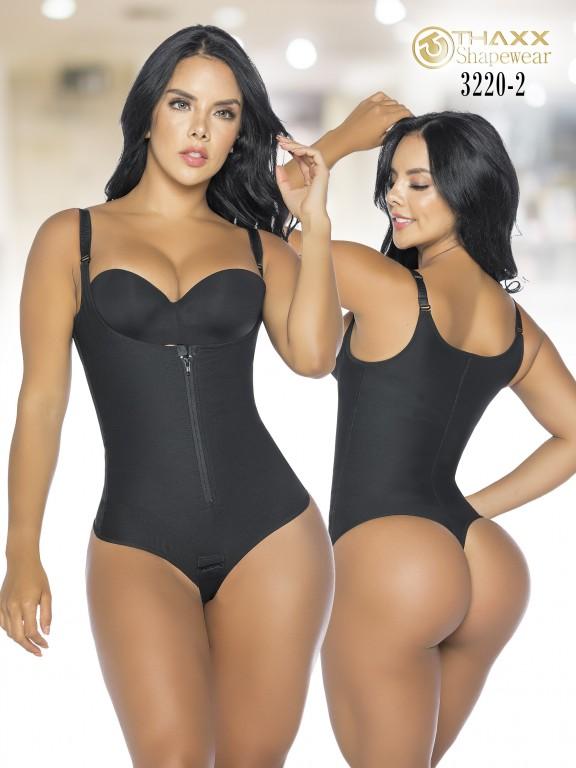 Colombian Body Girdle Thaxx Thread Negra  - Ref. 119 -3220-2