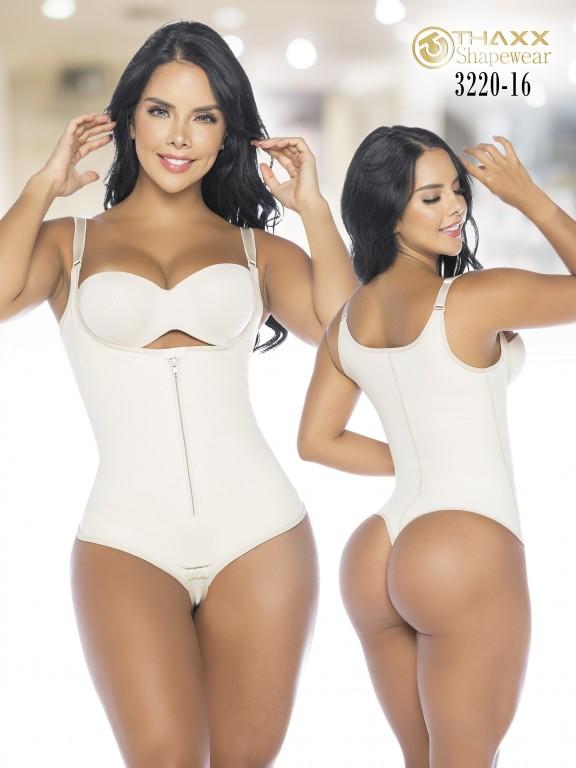 Colombian Body Girdle Thaxx Thread Beige - Ref. 119 -3220-16