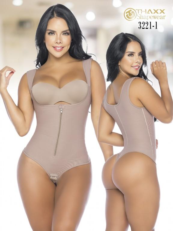 Colombian Body Girdle Thaxx Thread Cocoa - Ref. 119 -3221-1
