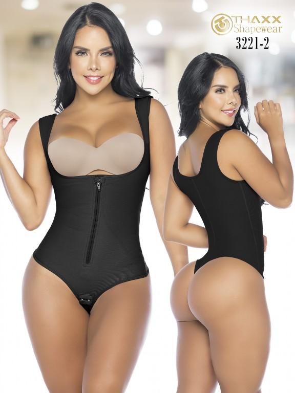Colombian Body Girdle Thaxx Thread Negra - Ref. 119 -3221-2