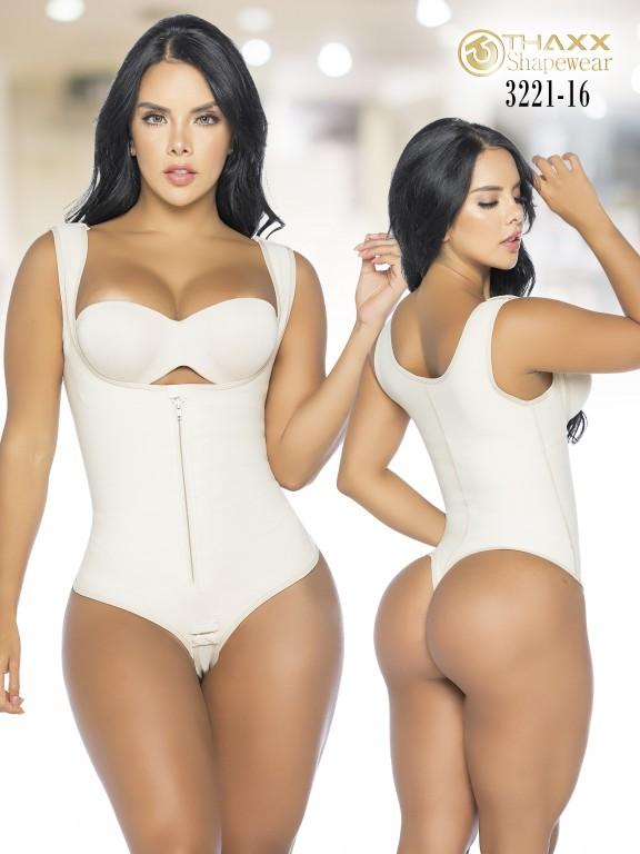 Colombian Body Girdle Thaxx Thread Beige - Ref. 119 -3221-16