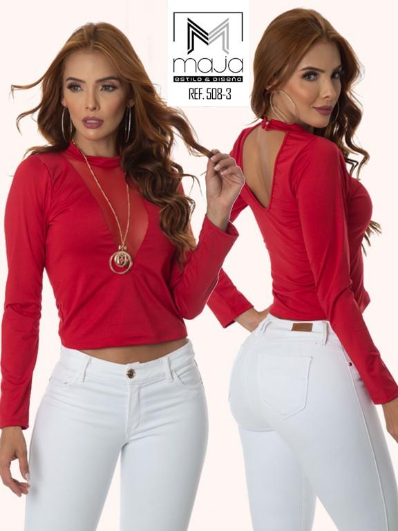 Colombian Fashion Blouse - Ref. 301 -508 Rojo
