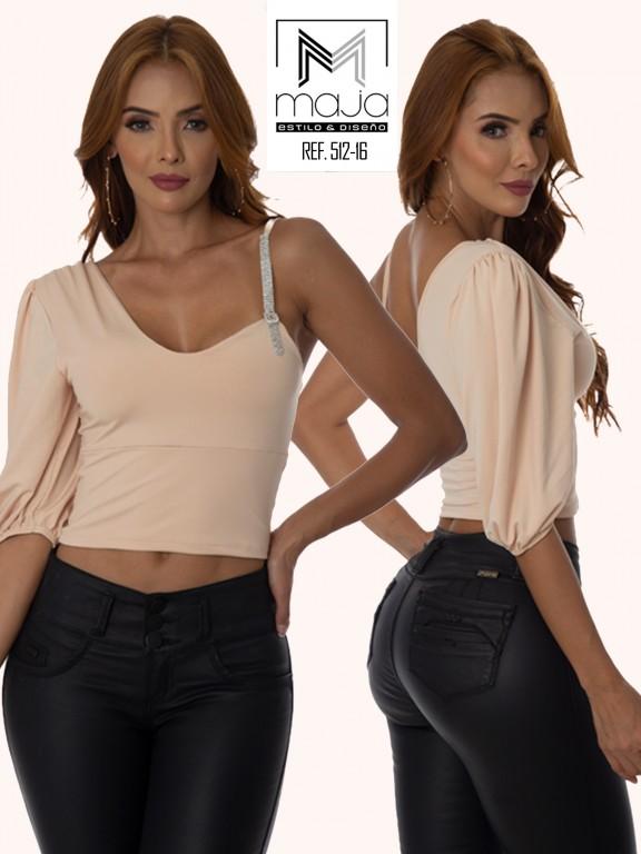 Colombian Fashion Blouse - Ref. 301 -512 Beige