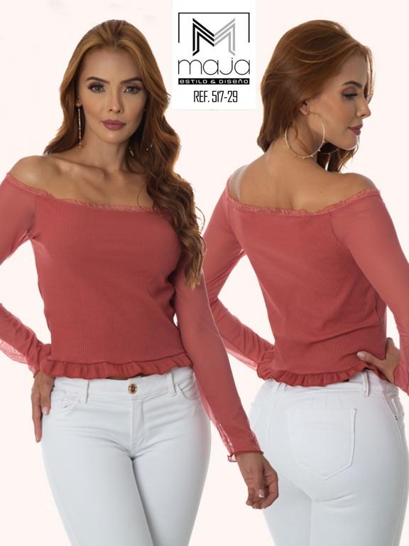 Colombian Fashion Blouse - Ref. 301 -517 Salmon