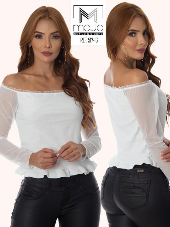 Colombian Fashion Blouse - Ref. 301 -517 BEIGE