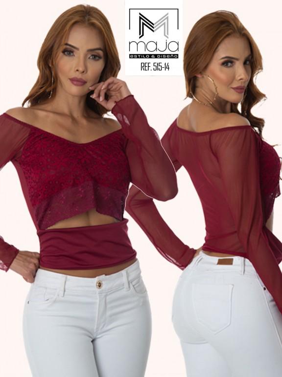 Colombian Fashion Blouse - Ref. 301 -515 Vinotinto