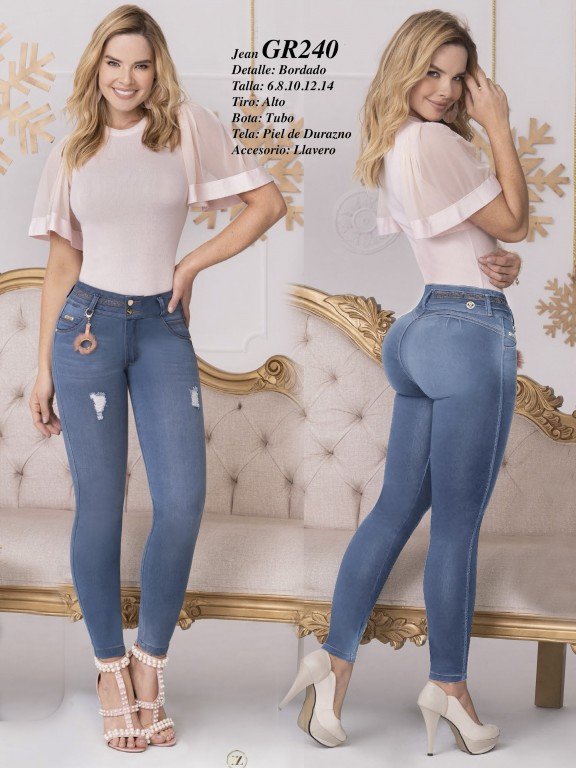 Colombian Butt lifting Jean - Ref. 306 -240 Claro