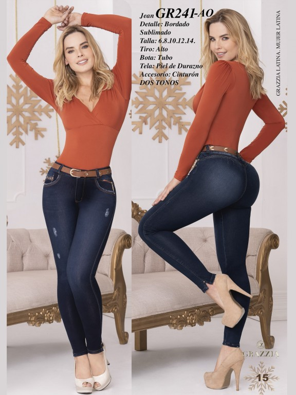 Colombian Butt lifting Jean - Ref. 306 -241 Oscuro