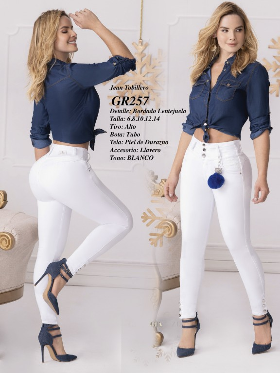 Jeans Levantacola Colombiano - Ref. 306 -257