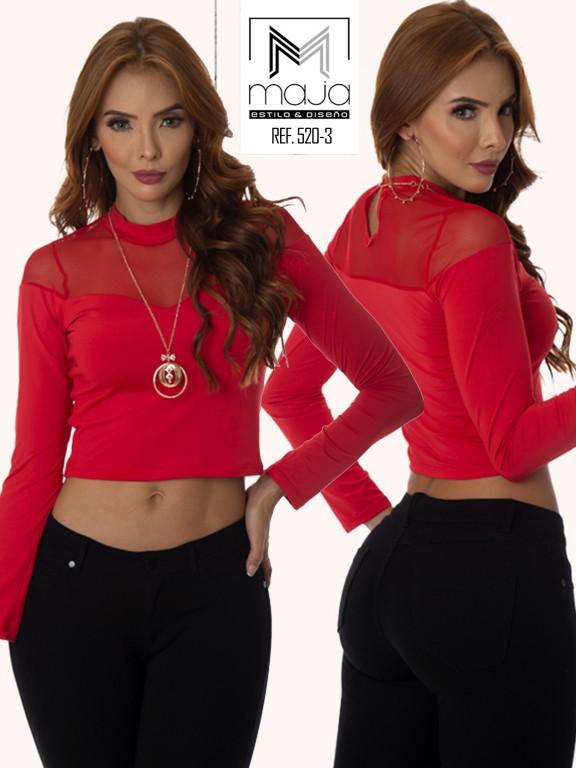 Colombian Fashion Blouse - Ref. 301 -520 Rojo