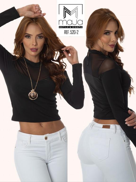 Colombian Fashion Blouse - Ref. 301 -520 Negro