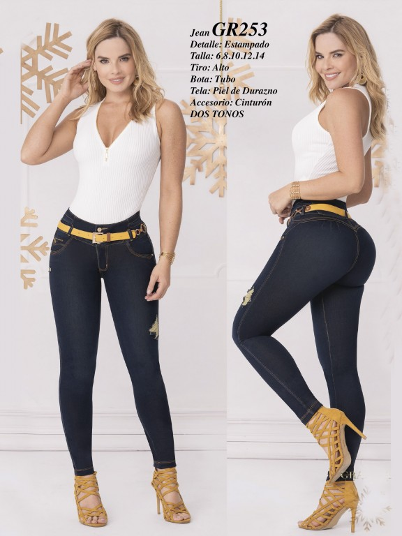 Colombian Butt lifting Jean - Ref. 306 -253 Oscuro