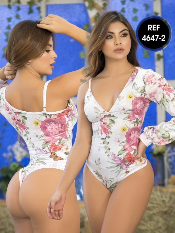 Colombian Bodysuit Shaper - Ref. 114 -4647-2 Blanco