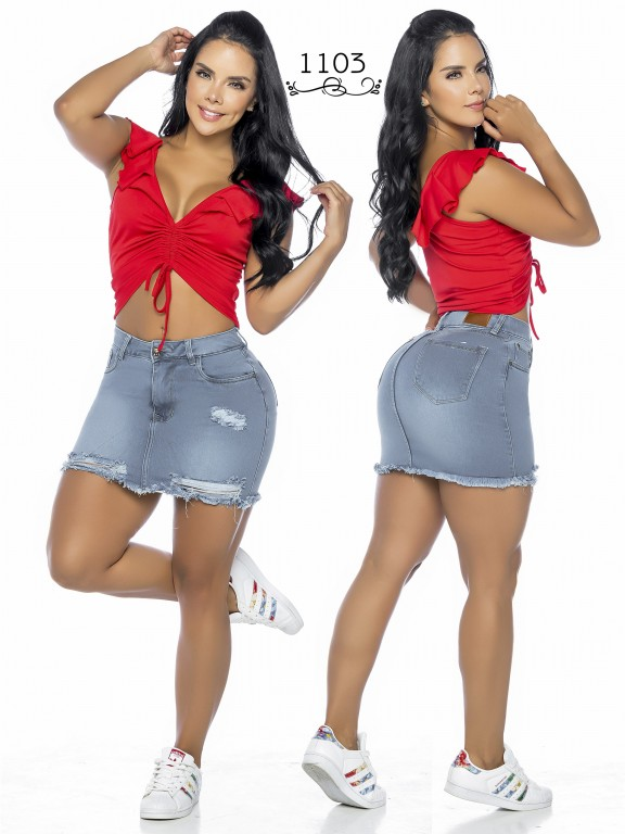 Colombian Butt Lifting skirt - Ref. 119 -1103A