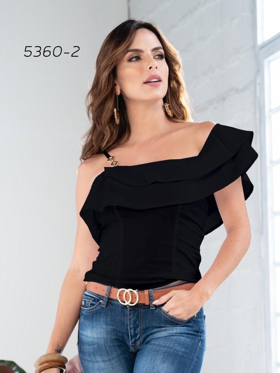 Colombian Fashion Blouse - Ref. 252 -5360 Negro