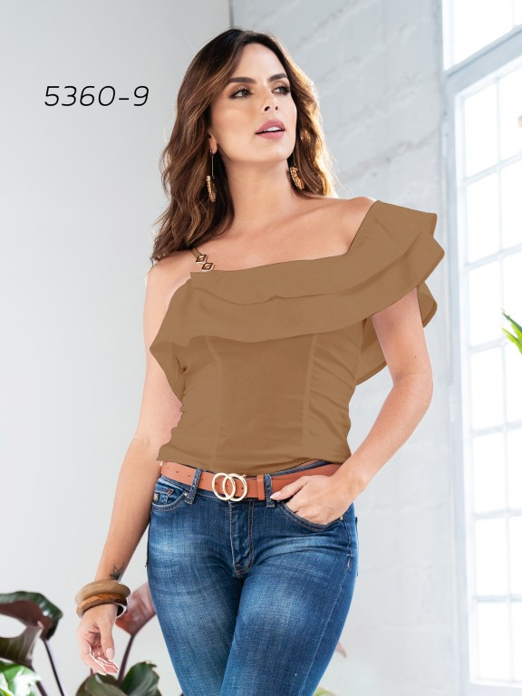 Colombian Fashion Blouse - Ref. 252 -5360 Café