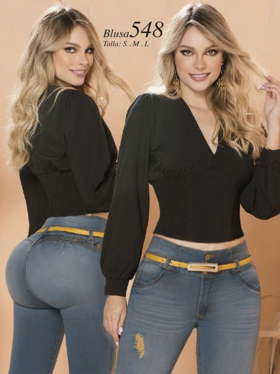 Colombian Fashion Blouse - Ref. 280 -548 Negro