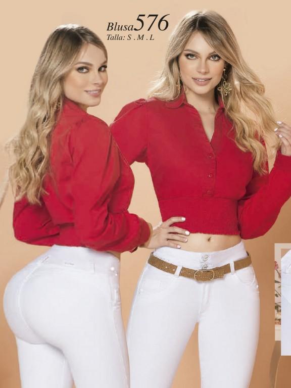 Colombian Fashion Blouse - Ref. 280 -576 Rojo