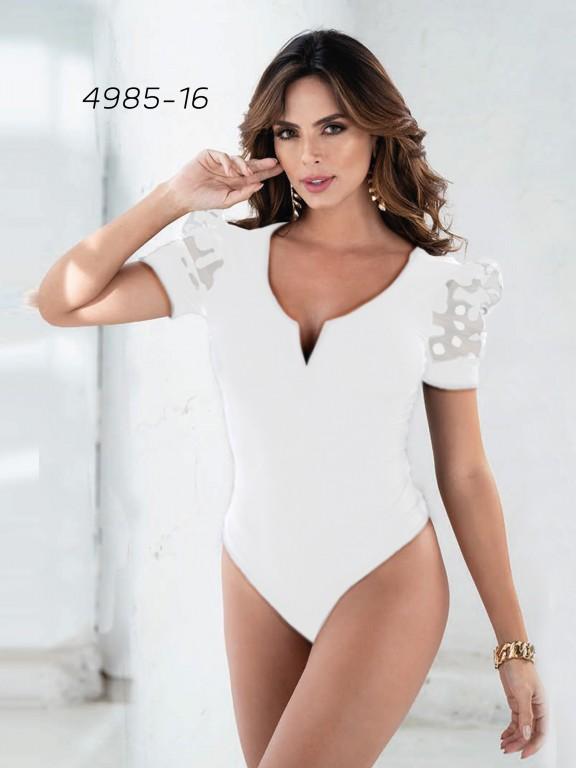 Colombian Fashion Bodysuit  - Ref. 252 -4985 Beige