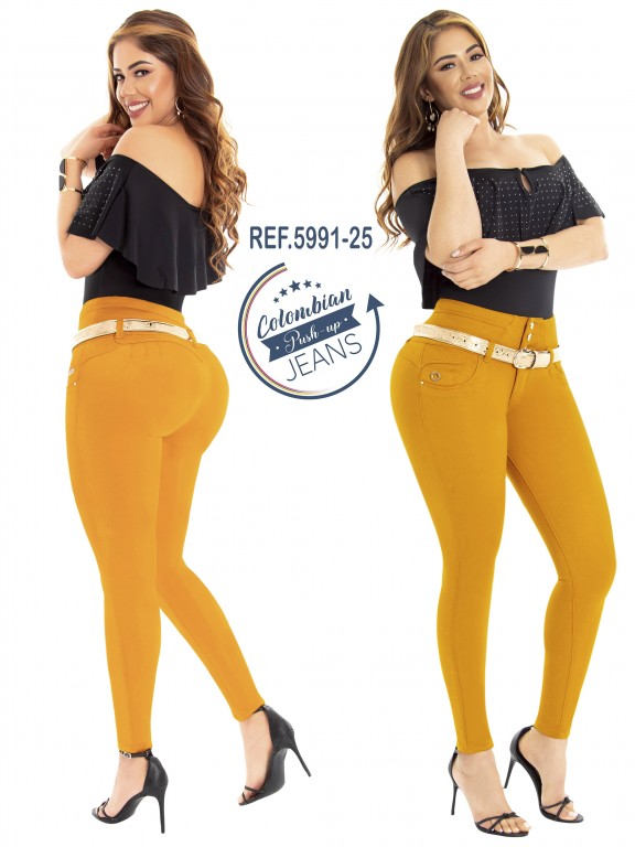 Colombian Butt lifting Jean - Ref. 283 -5991 Mostaza