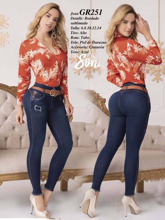 Colombian Butt lifting Jean - Ref. 306 -251 Claro