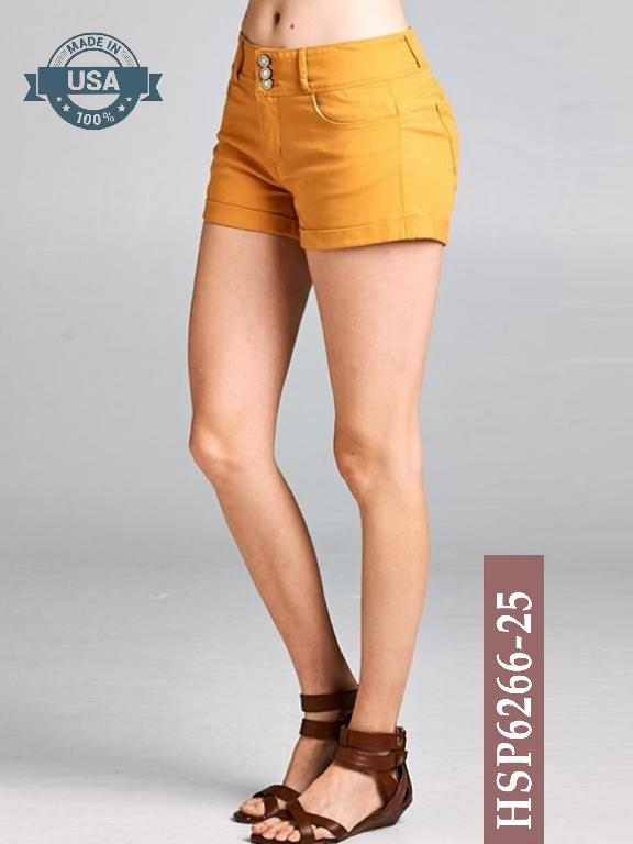 Short Azulle Fashion - Ref. 256 -HSP6266-25 Mostaza