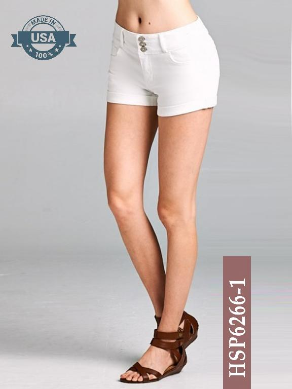 Short Azulle Fashion - Ref. 256 -HSP6266-1 Blanco