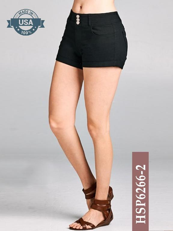 Short Azulle Fashion - Ref. 256 -HSP6266-2 Negro