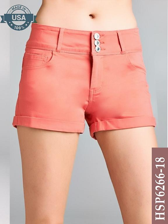 Short Azulle Fashion - Ref. 256 -HSP6266-18 Coral