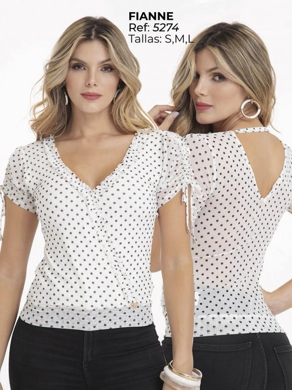 Blusa Moda Colombiana - Ref. 252 -5274 Blanco