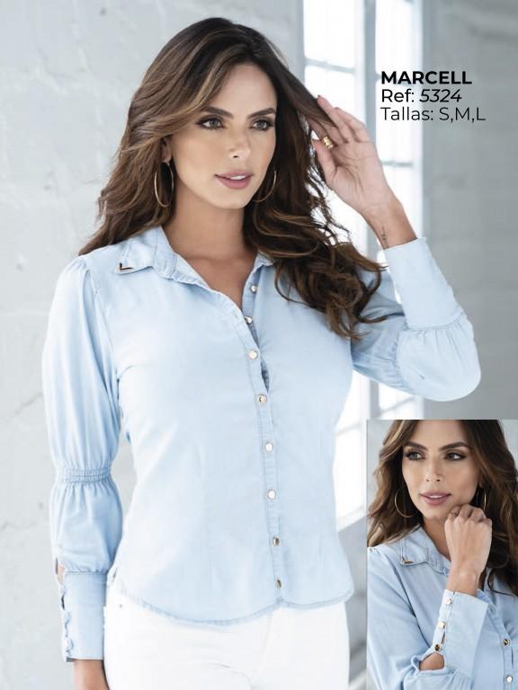 Colombian Fashion Blouse - Ref. 252 -5324 Azul