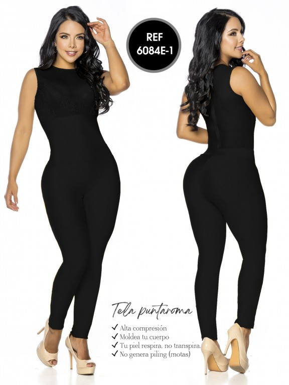 Colombian Romper by Thaxx - Ref. 119 -6084E-1 Negro