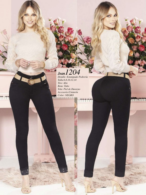 Colombian Butt lifting Jean - Ref. 280 -1204 Negro